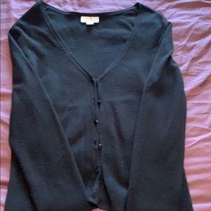Black button-down cardigan